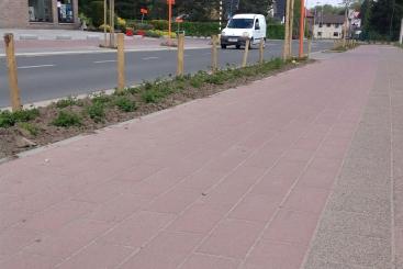 Dalles à piste cyclable