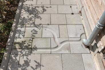 Dalles de canalisation d'eau de pluie