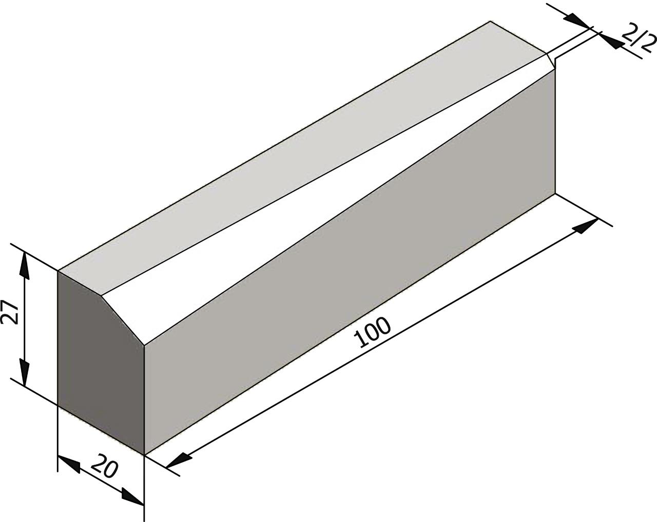 Bordures de transition type ic2 27x20 10 5 type ie bordures l ments lin aires - Type de bordure ...