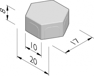 Pavés poreux hexagonaux 20/17x10