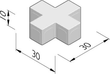 Square Cross 30x30