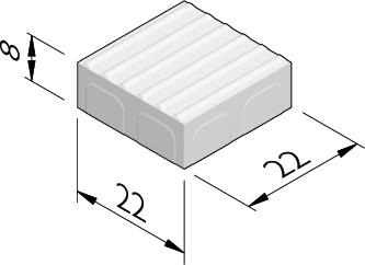 Dalles striées 22x22