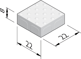 Dalles à protubérances 22x22