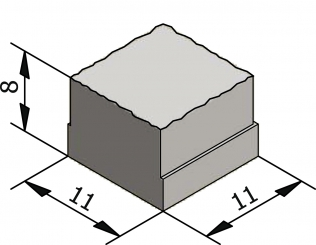 Rustico 11x11 Granuton