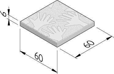 Waving Hands 60x60