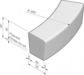 Solid courbe deux côtés