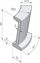 Éléments pour bacs à sable 90x30 courbe