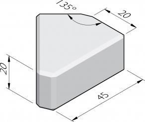 Blocs d'empilage 20x20 élément pointe