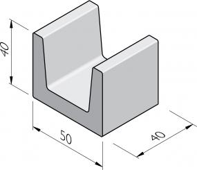 Blocs en U 40x50x40