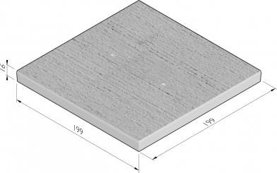 Dalle de plancher avec chanfrein
