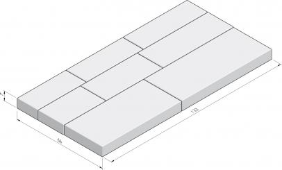 Basic Infinito appareillage en paquet 66x132