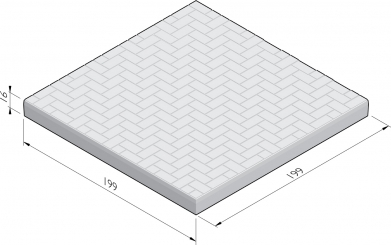 Dalle de plancher industrielle avec motif