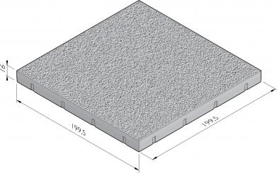 Dalle de plancher esthétique avec structure