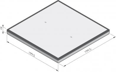Dalle de plancher industrielle avec structure