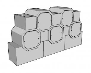 Cellules octogonales 50 hauteur 45