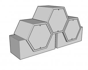 Cellules hexagonales 49