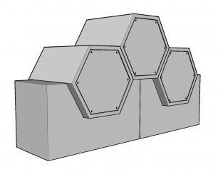 Cellules hexagonales 61