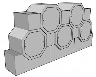 Cellule octogonale 50 hauteur 60
