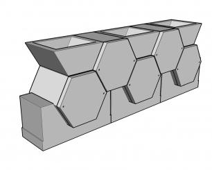 Cellules hexagonales 54 couvercle arrière