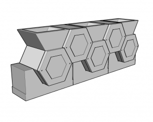 Cellules hexagonales 54 couvercle avant