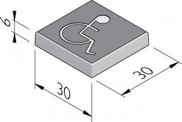 Dalles à symbole