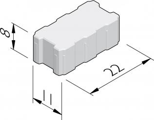 Pavés avec ouvertures de drainage